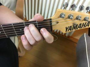ギターでEmコード写真