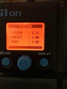 G1ONのバージョン情報