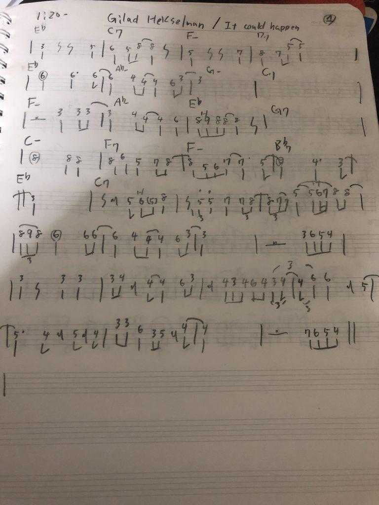 ギラッドヘクセルマン楽譜1